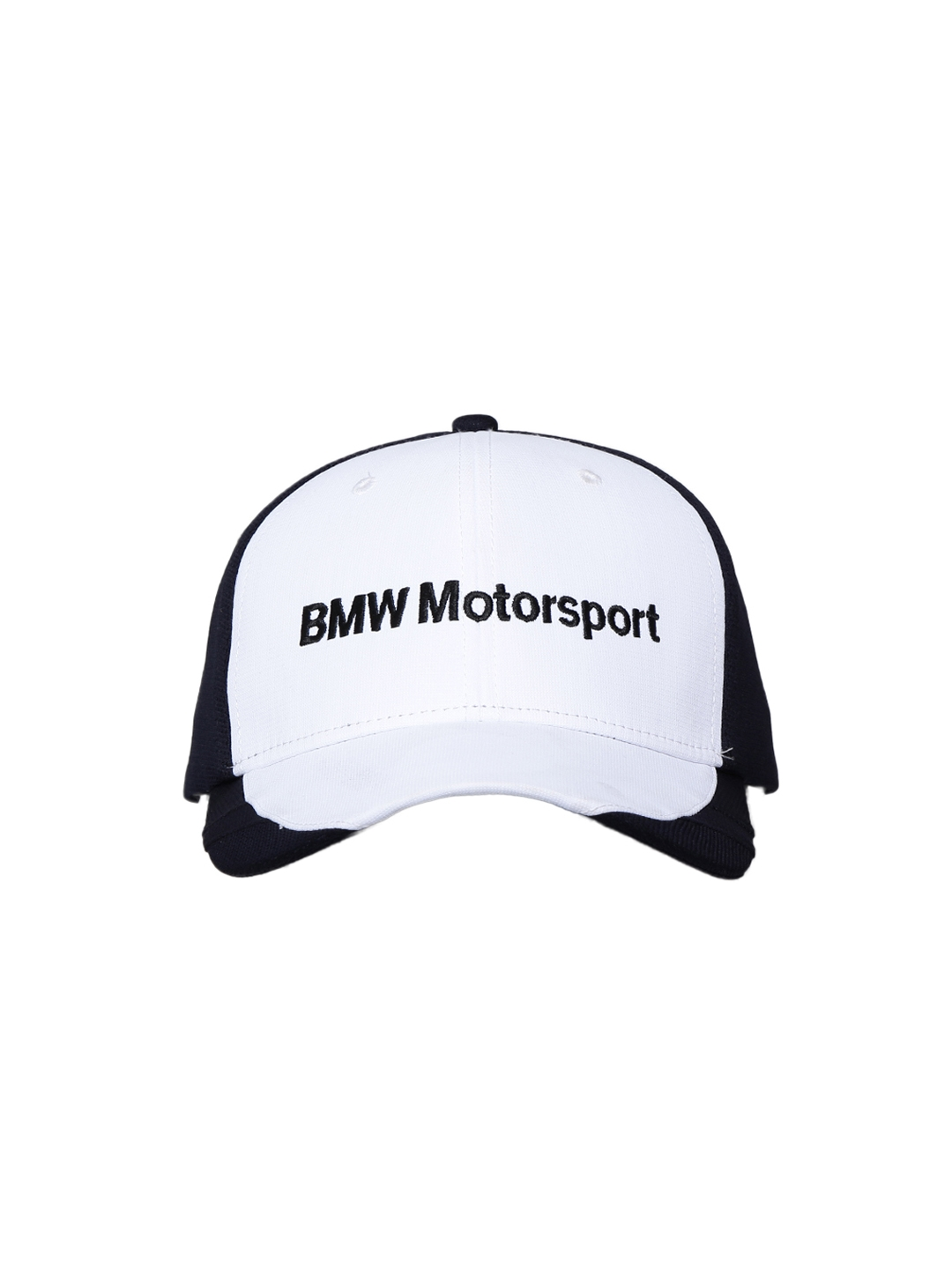 new concept 8f3f7 b29c5 Buy PUMA Men White   Black BMW MTS Sharknose Cap - Caps for Men 1976037    Myntra