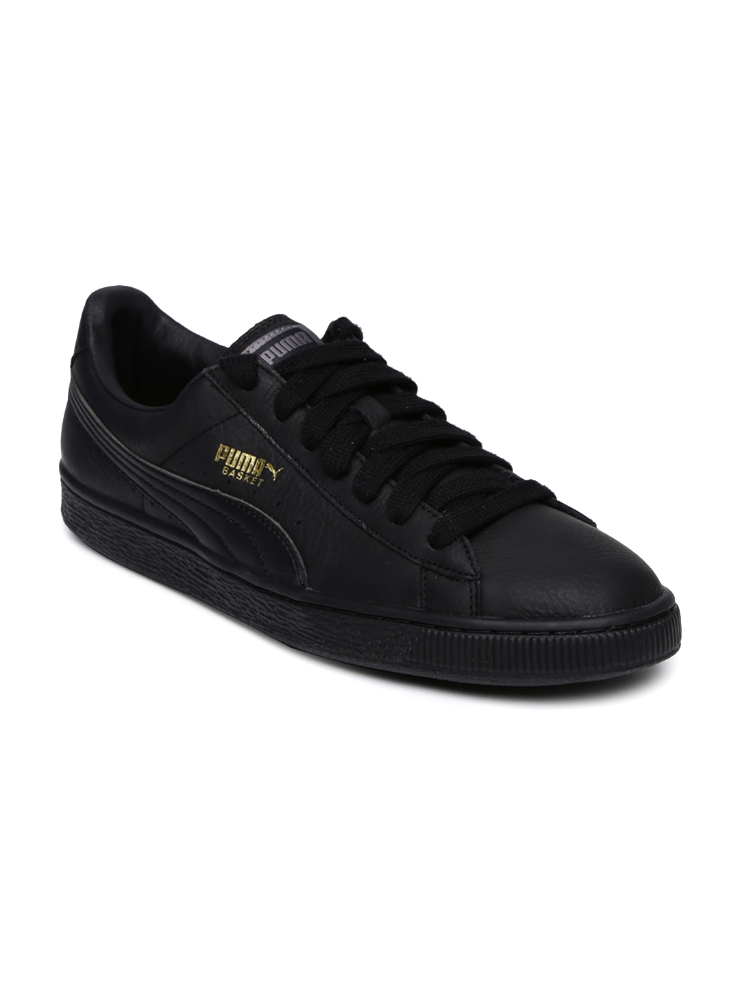 Buy Puma Men Black Solid Basket Classic Leather Sneakers - Casual ... ef76173df