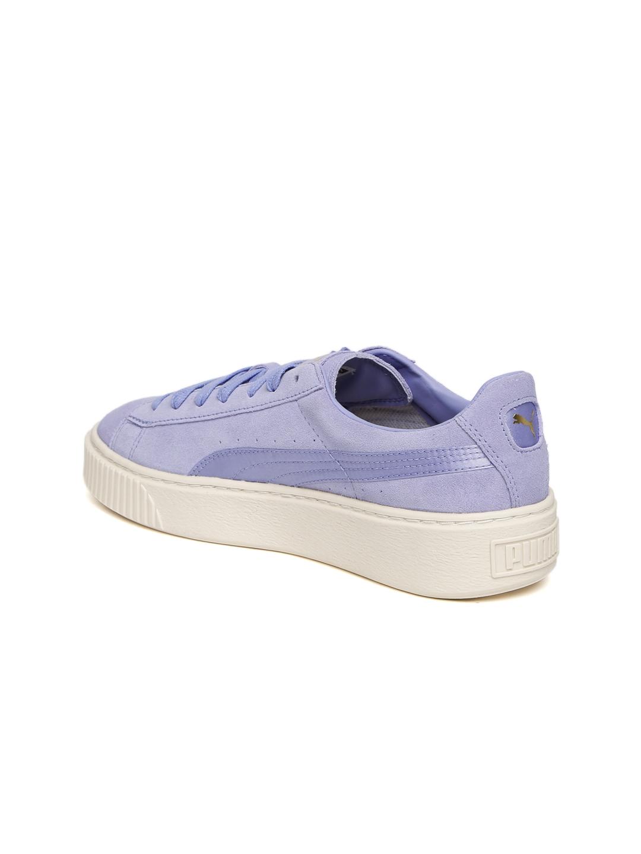 Buy Puma Women Lavender Suede Platform Mono Satin Sneakers - Casual ... dbef10215