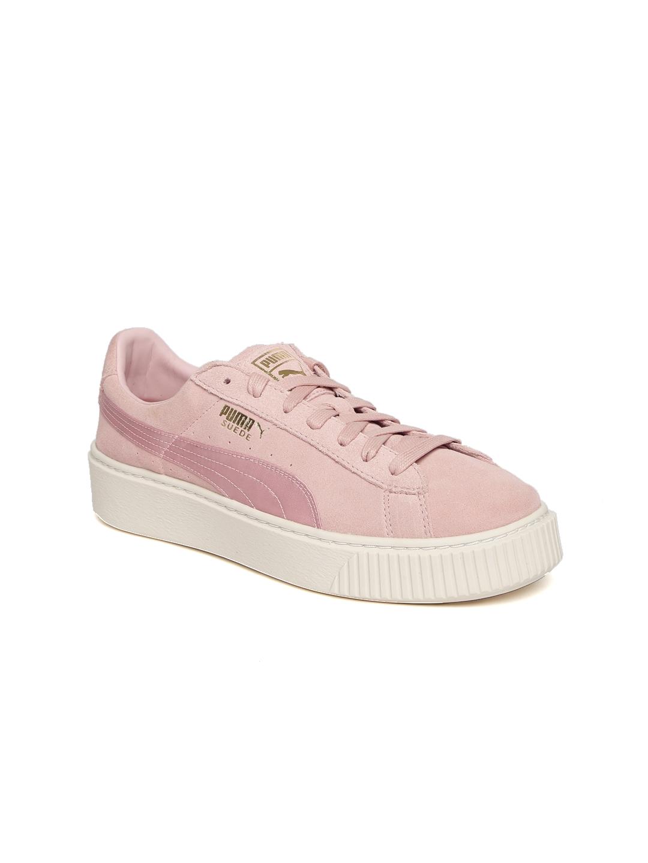 9dc1a4ef873 Buy Puma Women Pink Platform Mono Satin Suede Sneakers - Casual Shoes for  Women 1978063
