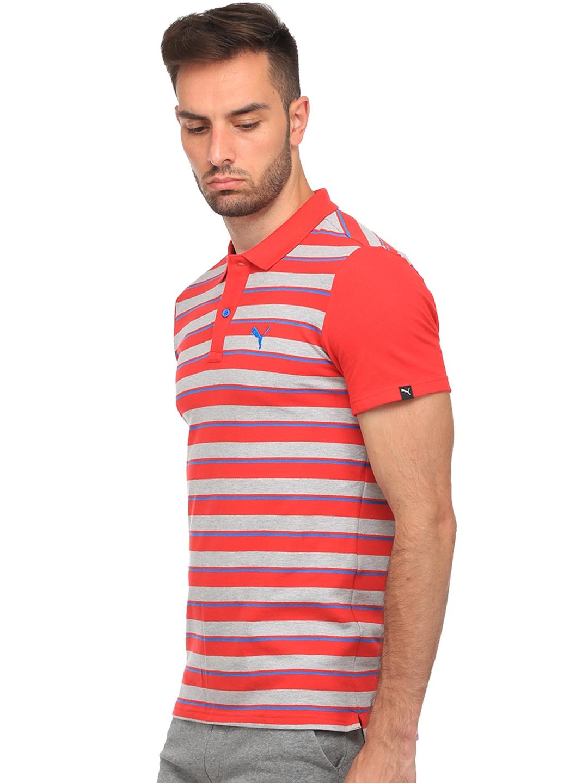 d894f017ef Buy Puma Men Red Race Striped Polo T Shirt - Tshirts for Men 1978599 ...