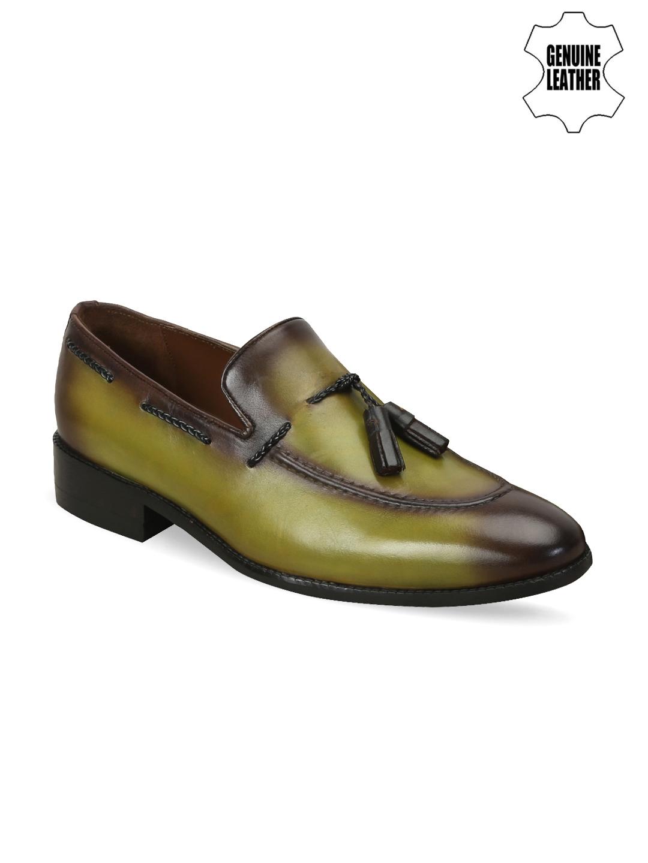 82c8e9d4df59 Buy BRUNE Men Green Genuine Leather Semiformal Shoes - Formal Shoes ...