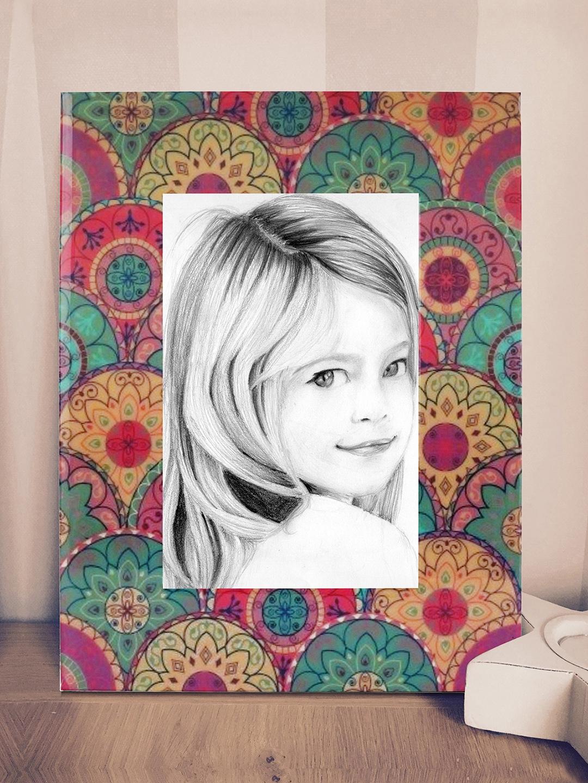 Buy RANGRAGE Multicoloured Handcrafted Ethnic Print Photo Frame ...