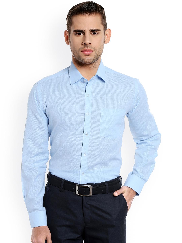 Buy Rg Designers Men Blue Modern Slim Fit Self Design Formal Shirt