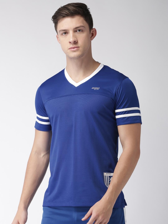 3aac65c389 Buy 2GO Men Blue Solid Football T Shirt - Tshirts for Men 1986327 ...