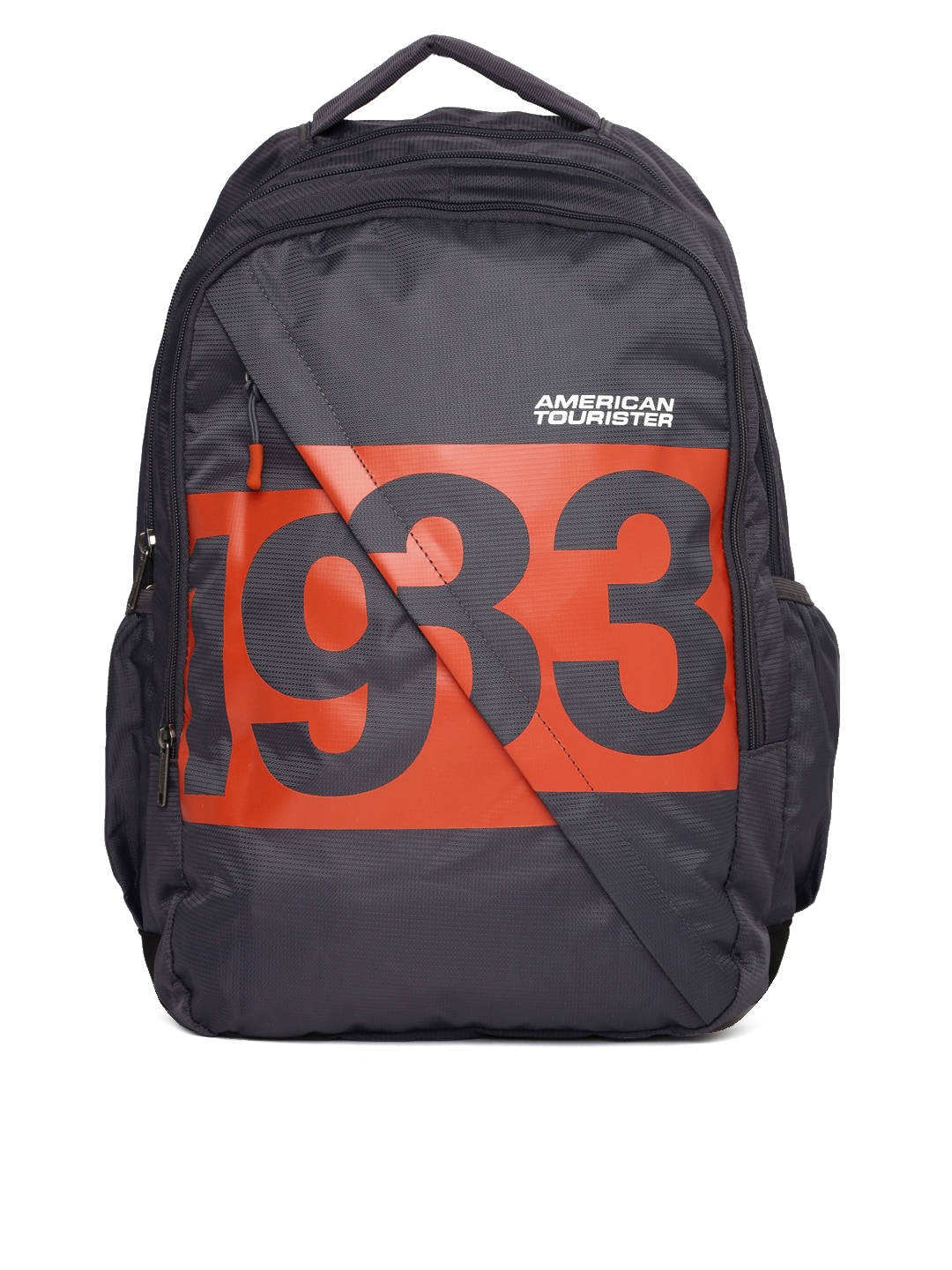 School bags online cash on delivery - American Tourister Unisex Grey Amt Boom Graphic Backpack