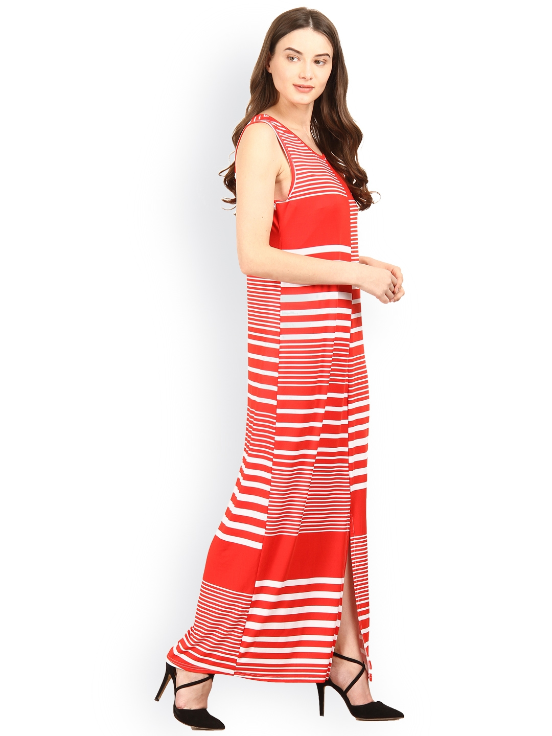 fefedb5e15a Buy SILOUETTES Red   White Striped Maxi Dress - Dresses for Women ...