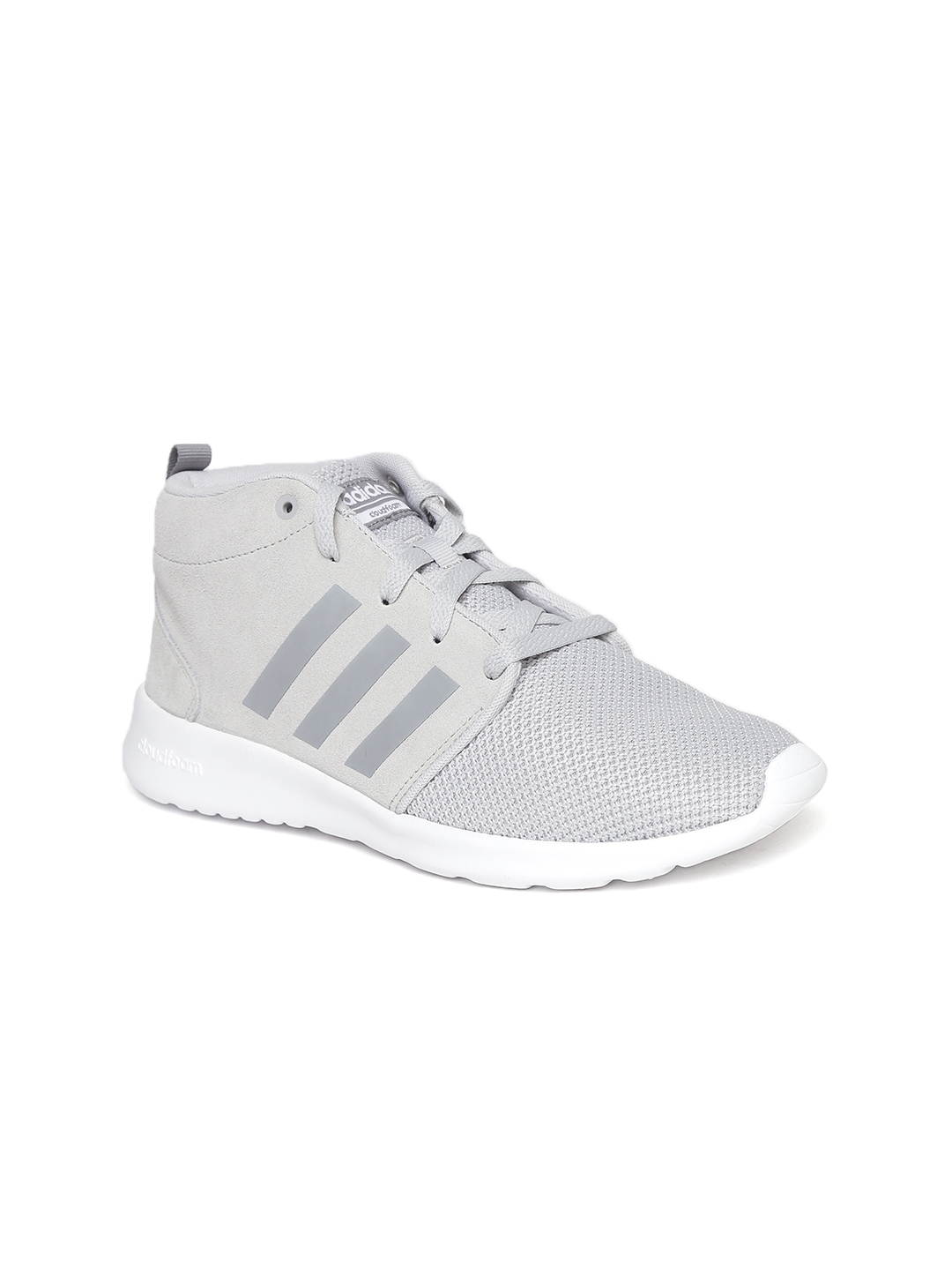 purchase cheap 54d94 161a8 ADIDAS NEO Women Grey CloudFoam QT Racer Suede Sneakers