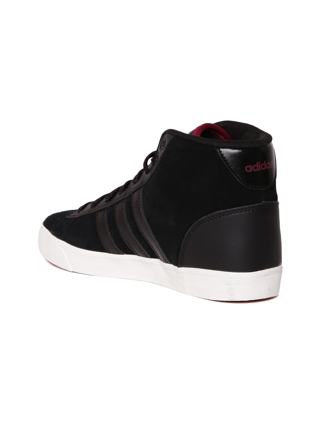 best sneakers d975d f9a8d ADIDAS NEO Women Black CloudFoam Daily QT Leather Sneakers