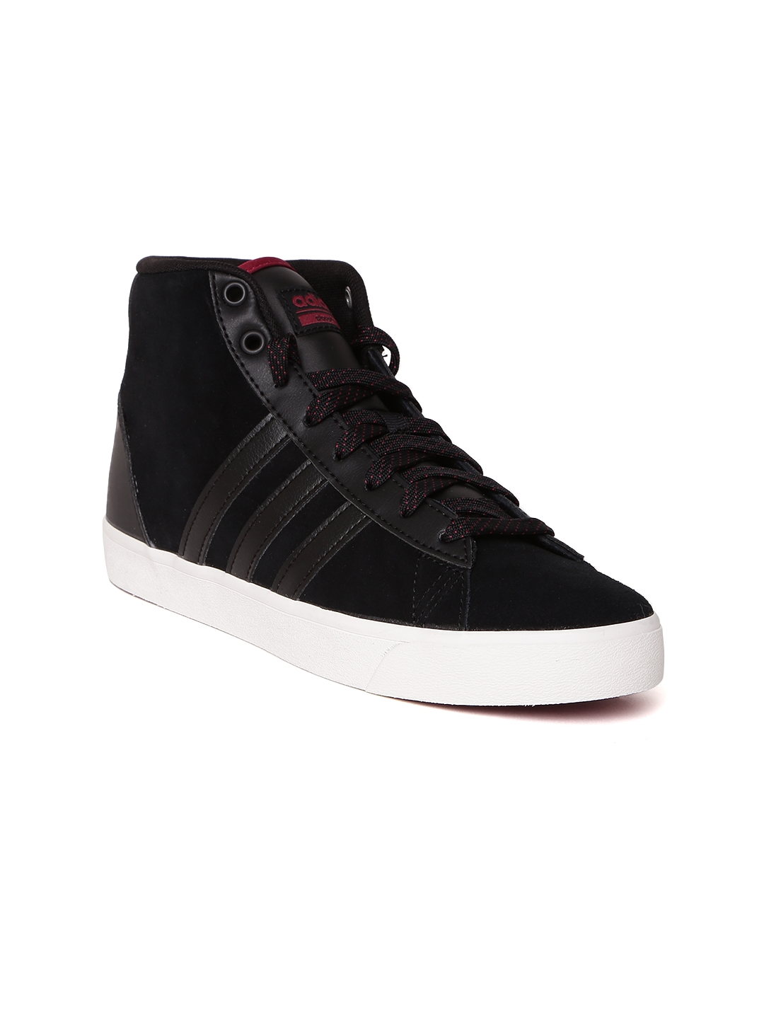 55fe0798588 Buy ADIDAS NEO Women Black CloudFoam Daily QT Leather Sneakers ...