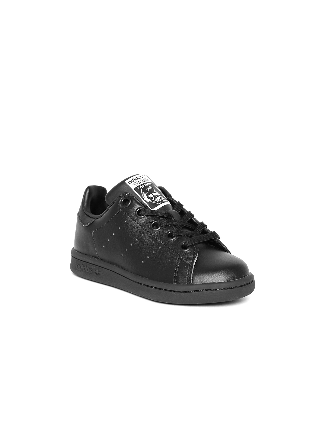 Buy Adidas Originals Kids Black STAN SMITH Sneakers - Casual Shoes ... 789b3fe041