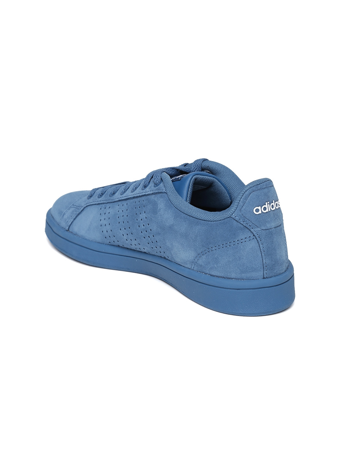 best service f092d 2de2c buy adidas neo women blue cloadfoam advantage clean suede sneakers 056b6  c9adc