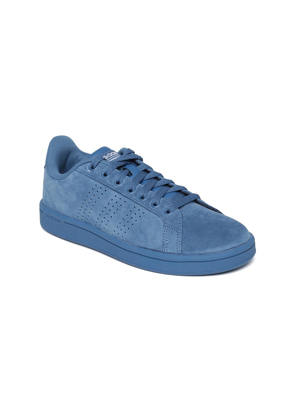 bba06e45dfa3 Buy ADIDAS NEO Women Blue CloadFoam Advantage Clean Suede Sneakers ...