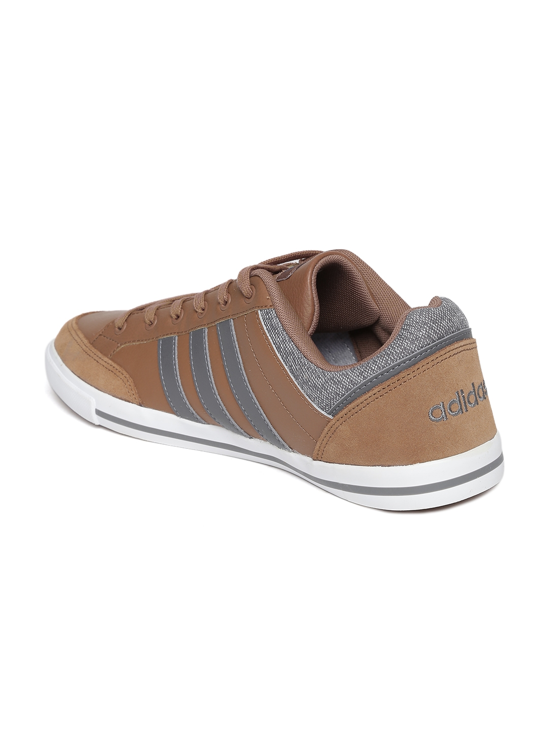 competitive price feda8 06d9f Adidas NEO Men Brown Cacity Leather Sneakers ...