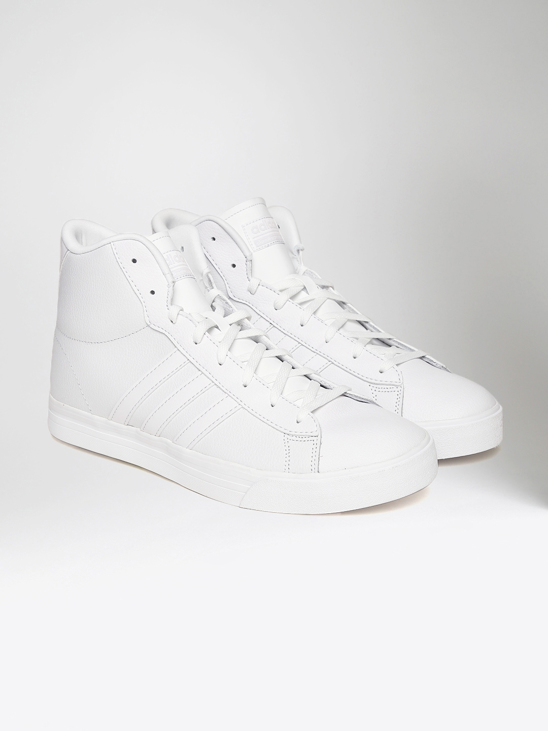 new concept 0af7d 8e1e5 ADIDAS NEO Men White CloudFoam Super Daily Solid Mid-Top Sneakers