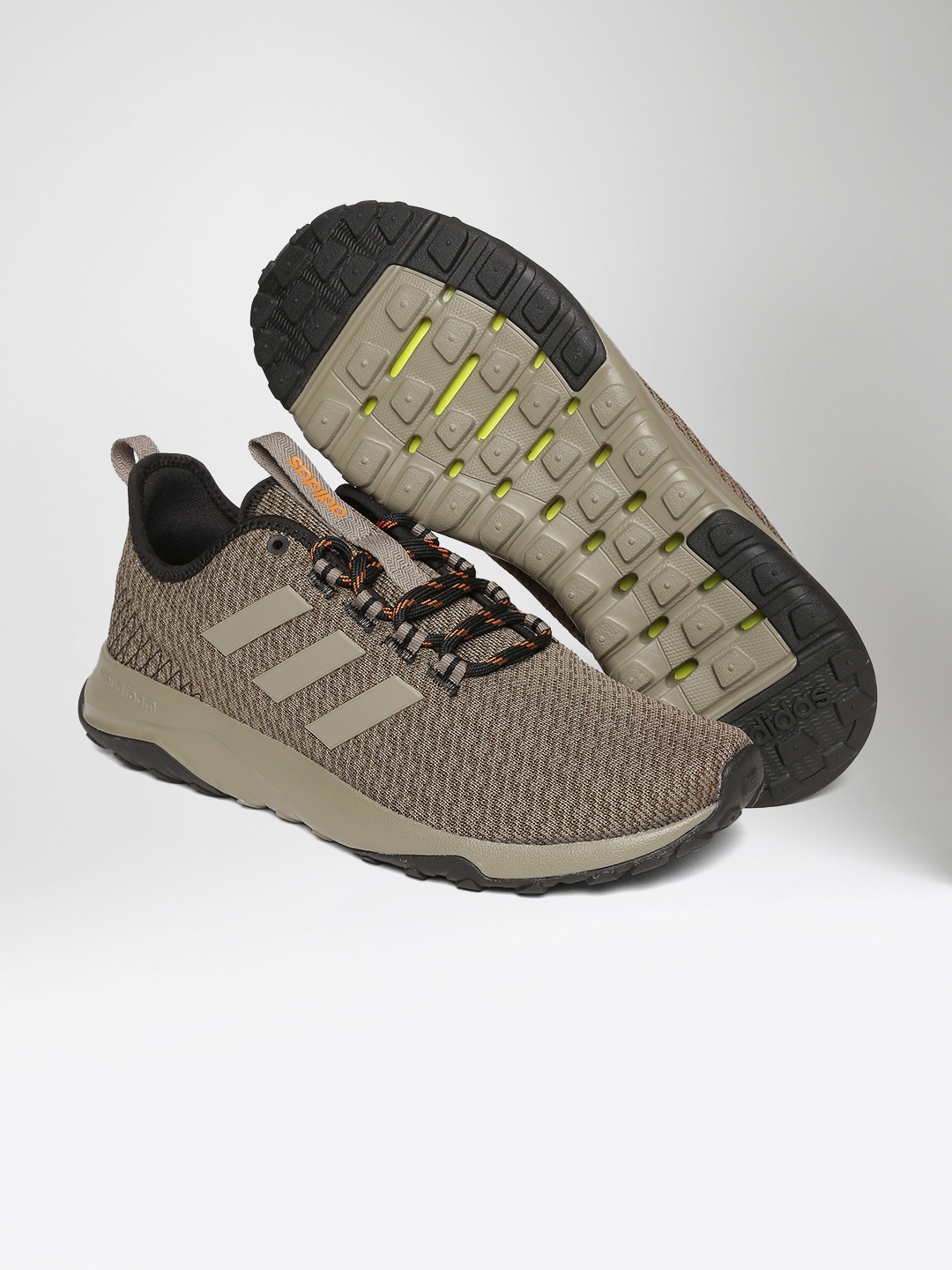new products 967aa 4fdb5 ADIDAS NEO Men Olive Brown CloudFoam Superflex TR Sneakers