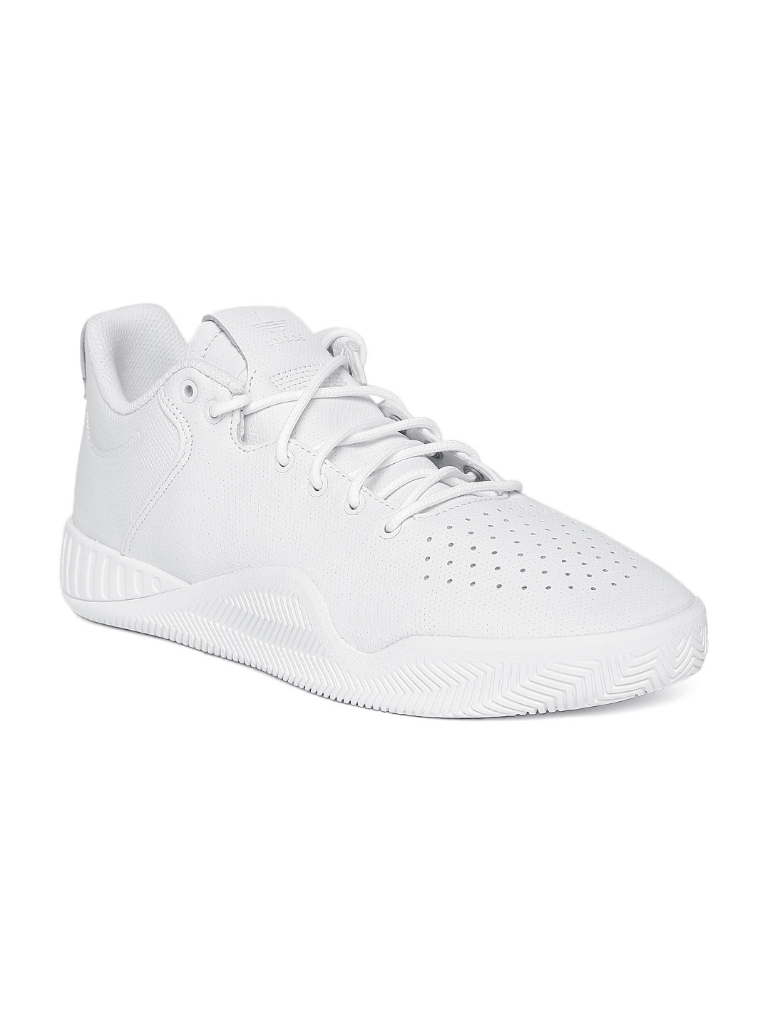 ADIDAS Originals Men White Tubular Instinct Low Perforated Sneakers 4232d5ac31a6a