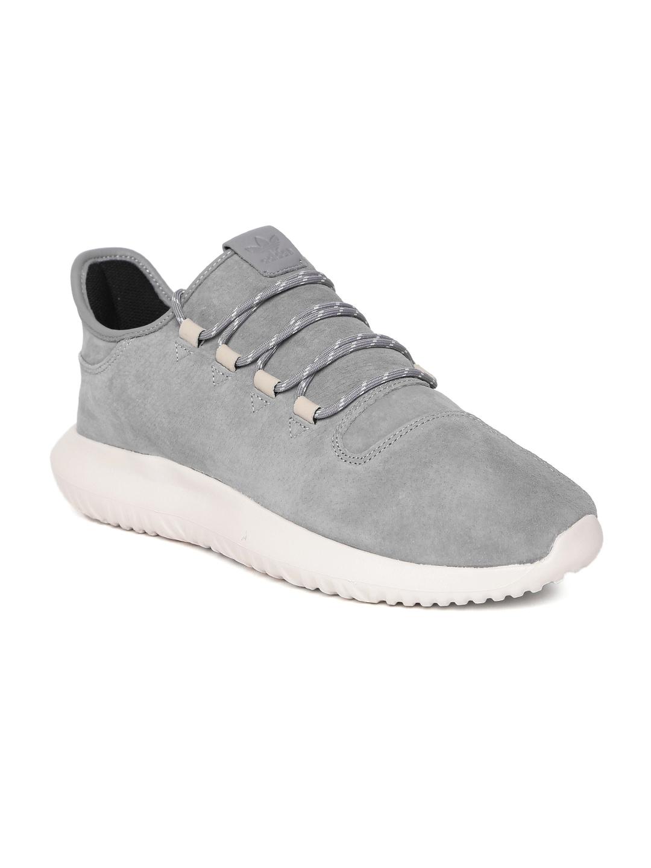 359f7ce743c6 Buy ADIDAS Originals Men Grey Tubular Shadow Leather Sneakers ...
