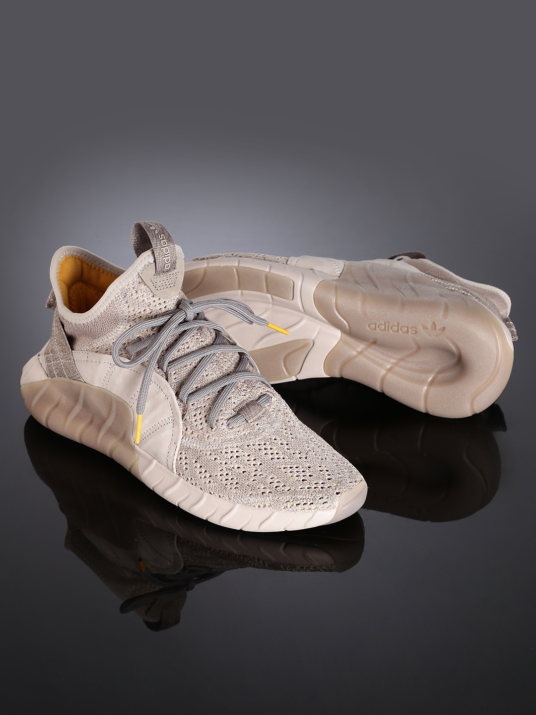 big sale ccd3d f816d ADIDAS Originals Men Taupe Tubular Rise Sneakers