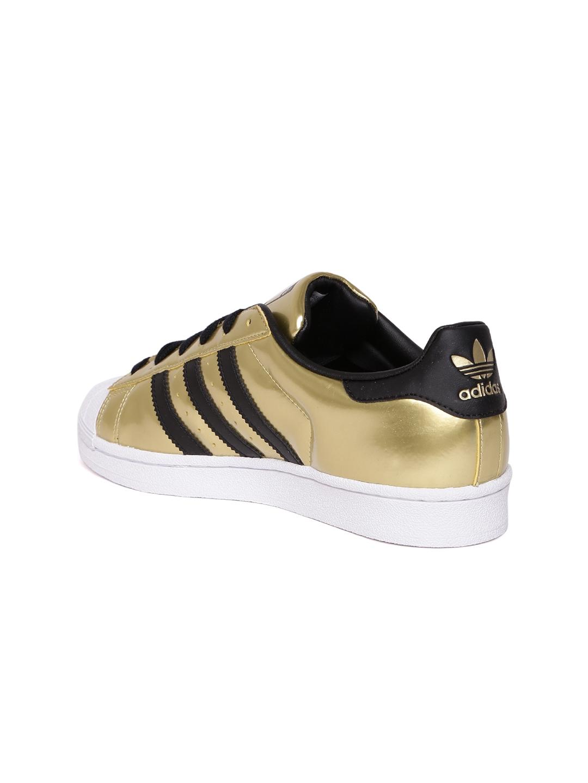59a0b2567b39 Buy ADIDAS Originals Women Gold Toned Superstar Sneakers - Casual ...