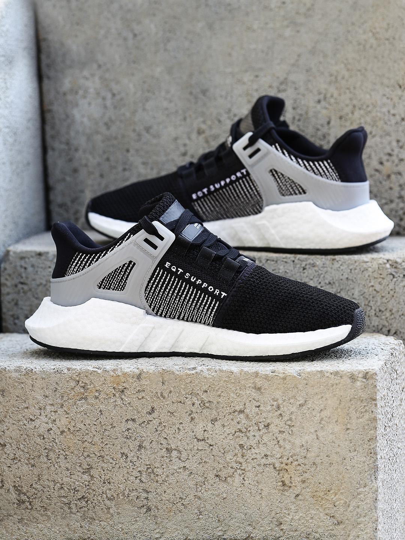 reputable site 1c55d 6ca17 ADIDAS Originals Men Black EQT Support 9317 Sneakers
