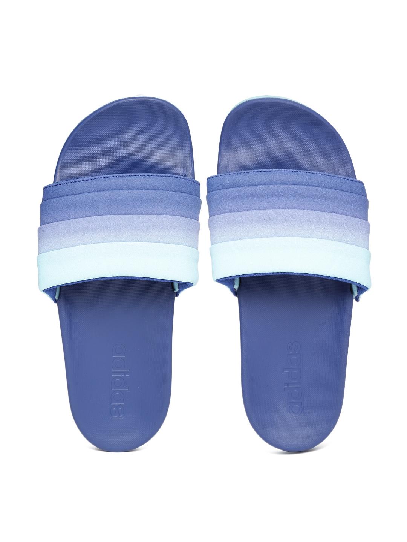 e4831390082 Buy ADIDAS Women Blue   Green Adilette Cloud Foam Armad Ombre Dyed Flip  Flops - Flip Flops for Women 1989383