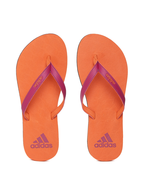 da0eb517dd2d6 Buy ADIDAS Women Magenta   Orange Puka Flip Flops - Flip Flops for ...