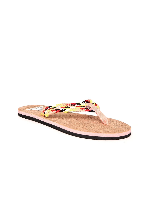 564f487a4ef180 Buy ADIDAS Women Peach Coloured   Brown Beach Cork Thong Flip Flops ...