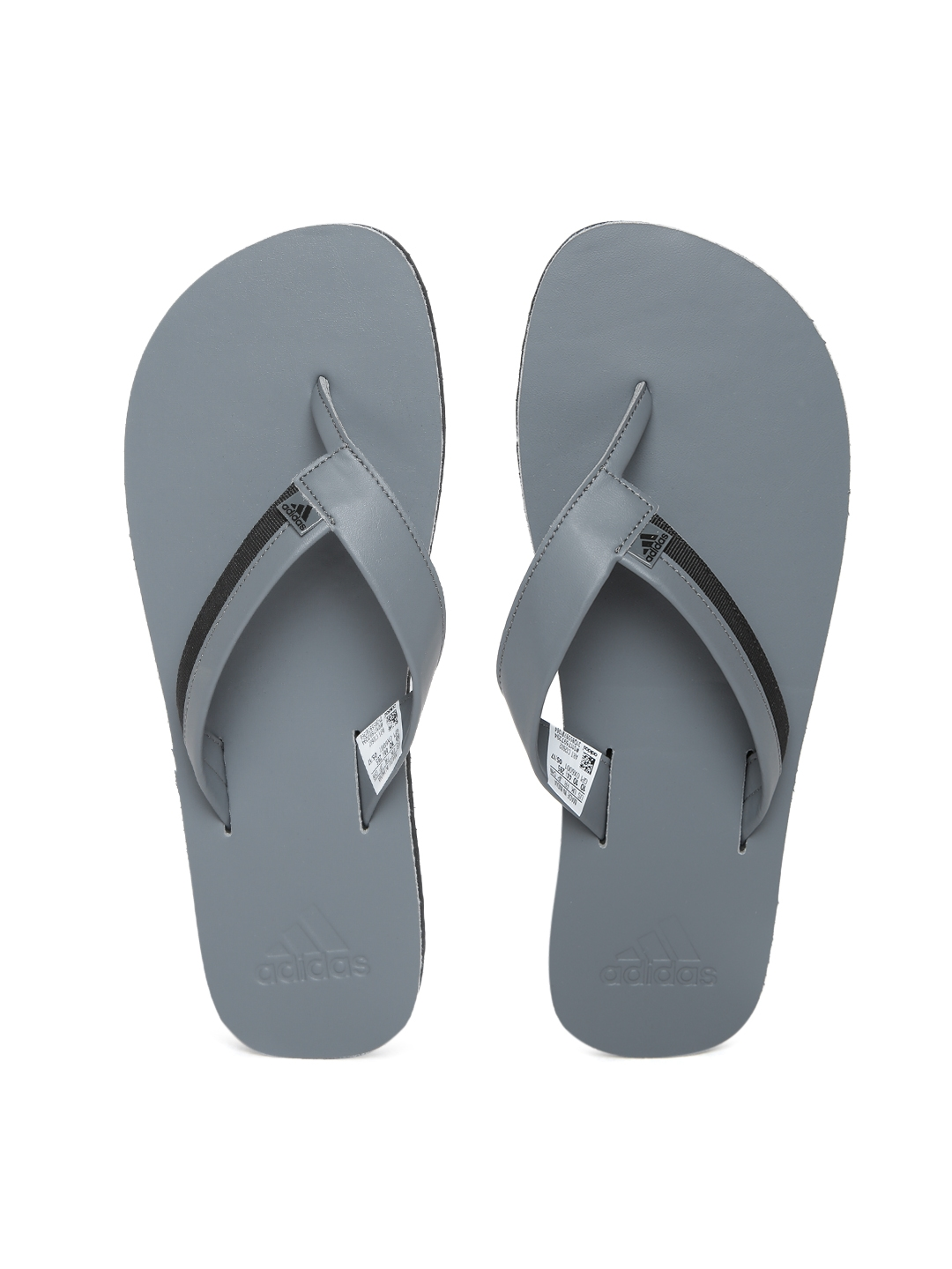 6e4fb64890de65 Buy ADIDAS Men Grey   Black Brizo 3.0 Flip Flops - Flip Flops for ...