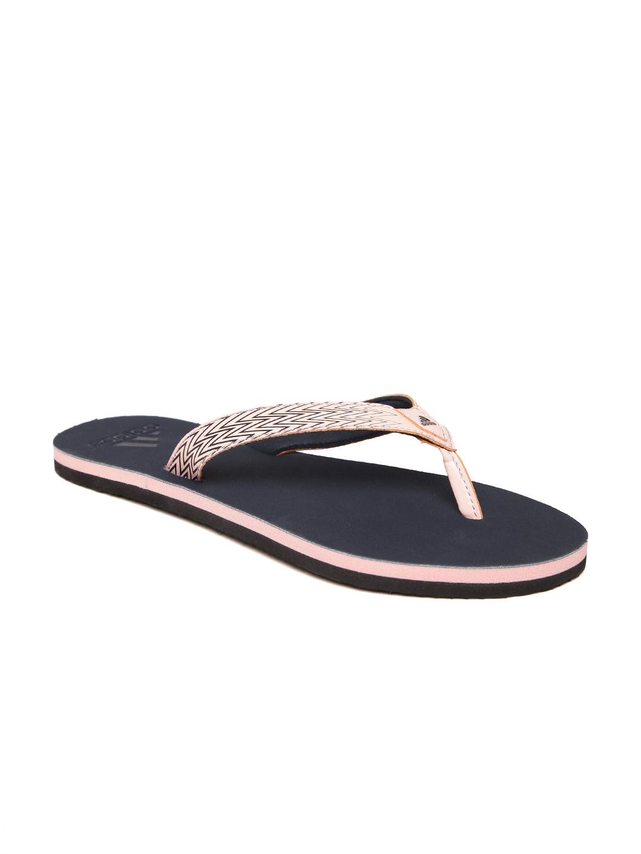 cdf0a3766a6c8 Buy ADIDAS Women Peach Coloured   Navy Brizo 4.0 Printed Flip Flops ...