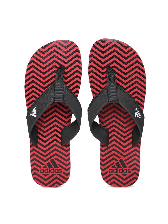 81f72b000846e7 Buy ADIDAS Men Black   Red Inert Chevron Print Flip Flops - Flip ...