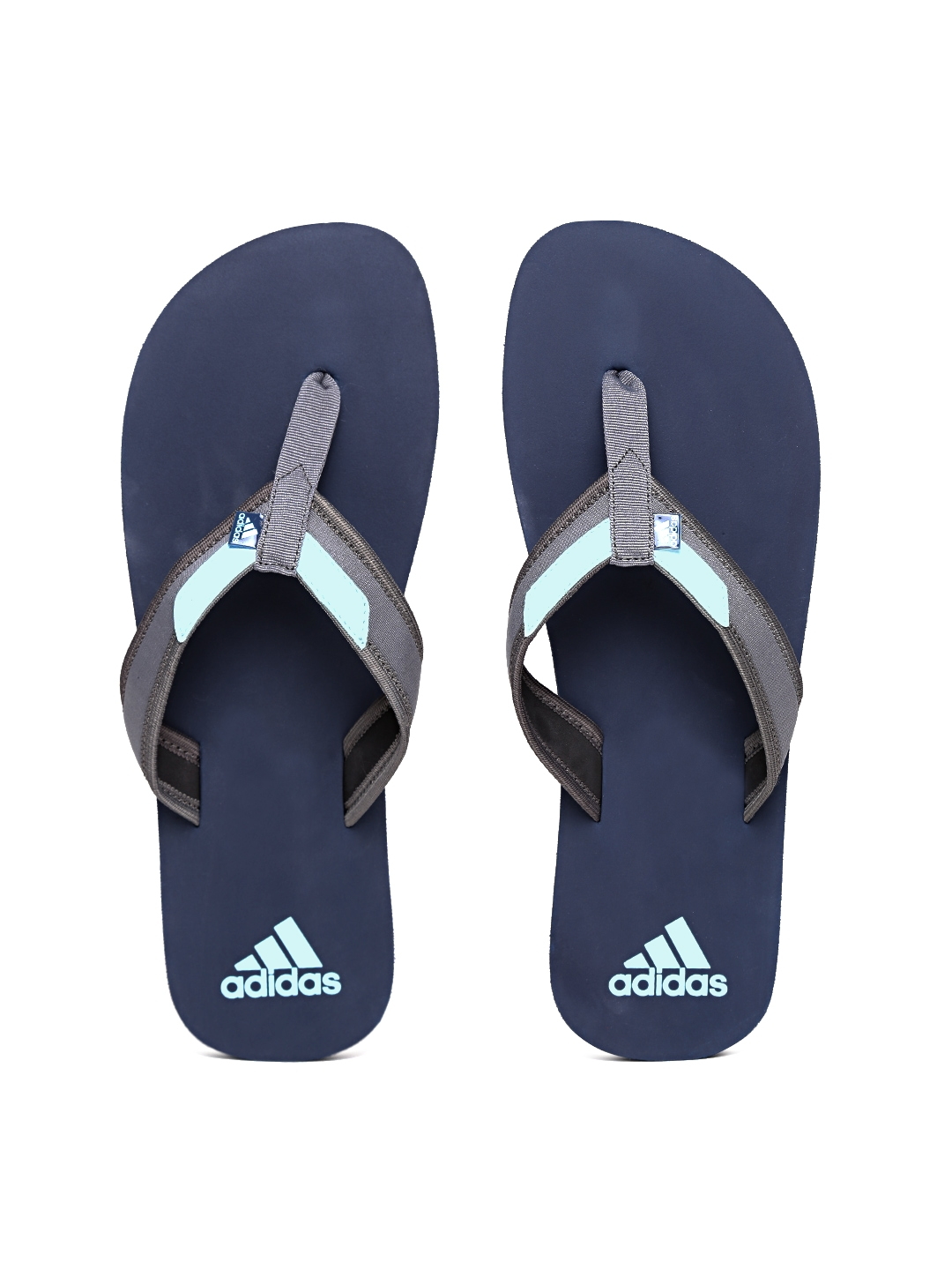 67ce3516b52f Buy ADIDAS Men Grey   Navy ADIRIO Attack 2 Flip Flops - Flip Flops ...