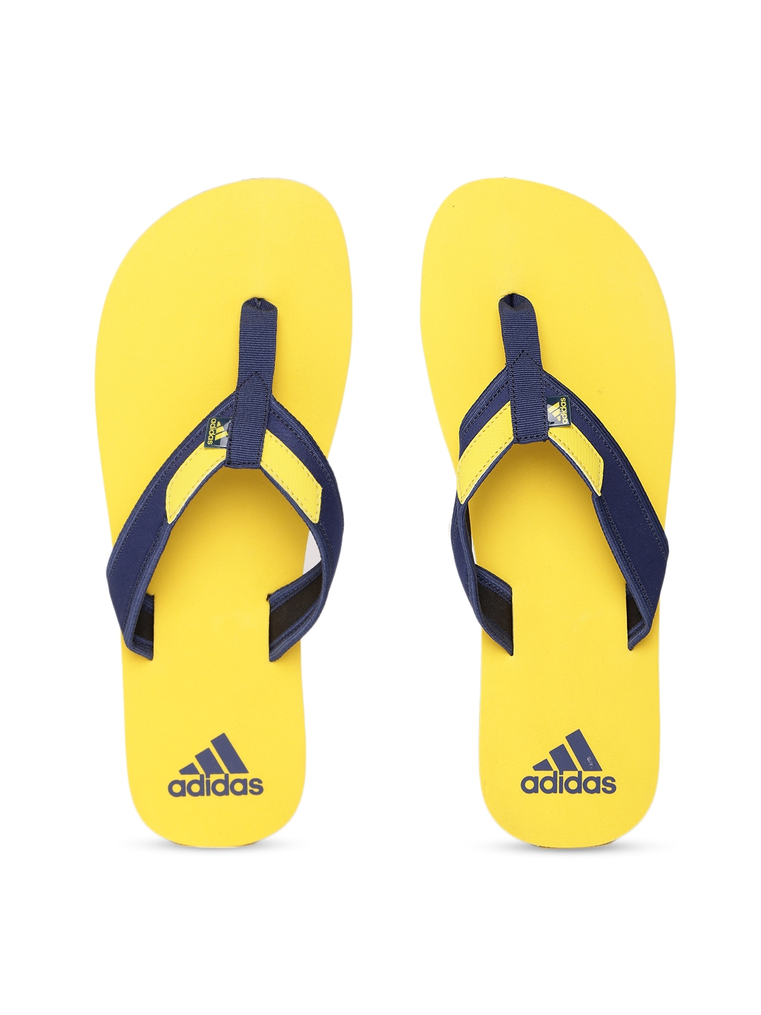 b6b7cdc486ef Buy ADIDAS Men Navy   Yellow Adirio Attack 2 Flip Flops - Flip Flops ...