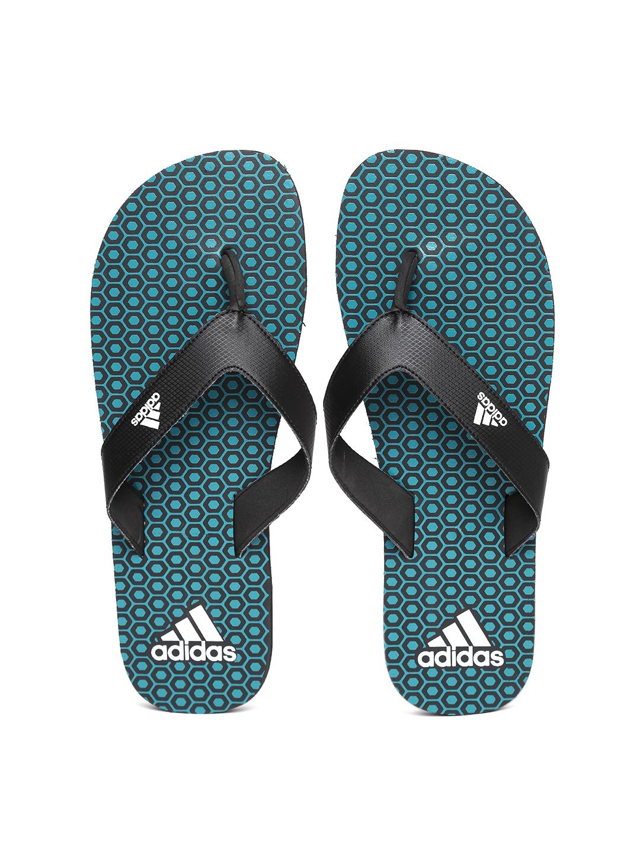 f02d230ff Buy ADIDAS Men Black   Blue Beach Print Max Out Flip Flops - Flip ...