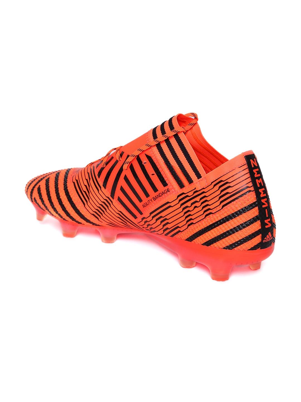 9369ed07bd64 Buy ADIDAS Men Orange & Black Striped Nemeziz 17.1 FG Football Shoes ...