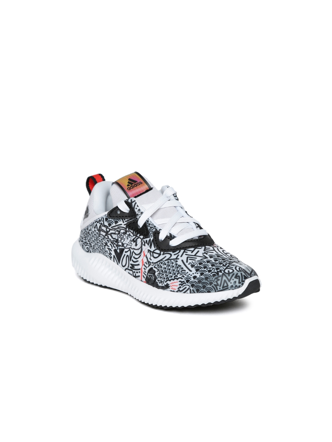 cda185bd17aa8 ADIDAS Kids White   Black Alphabounce Star Wars J Printed Running Shoes