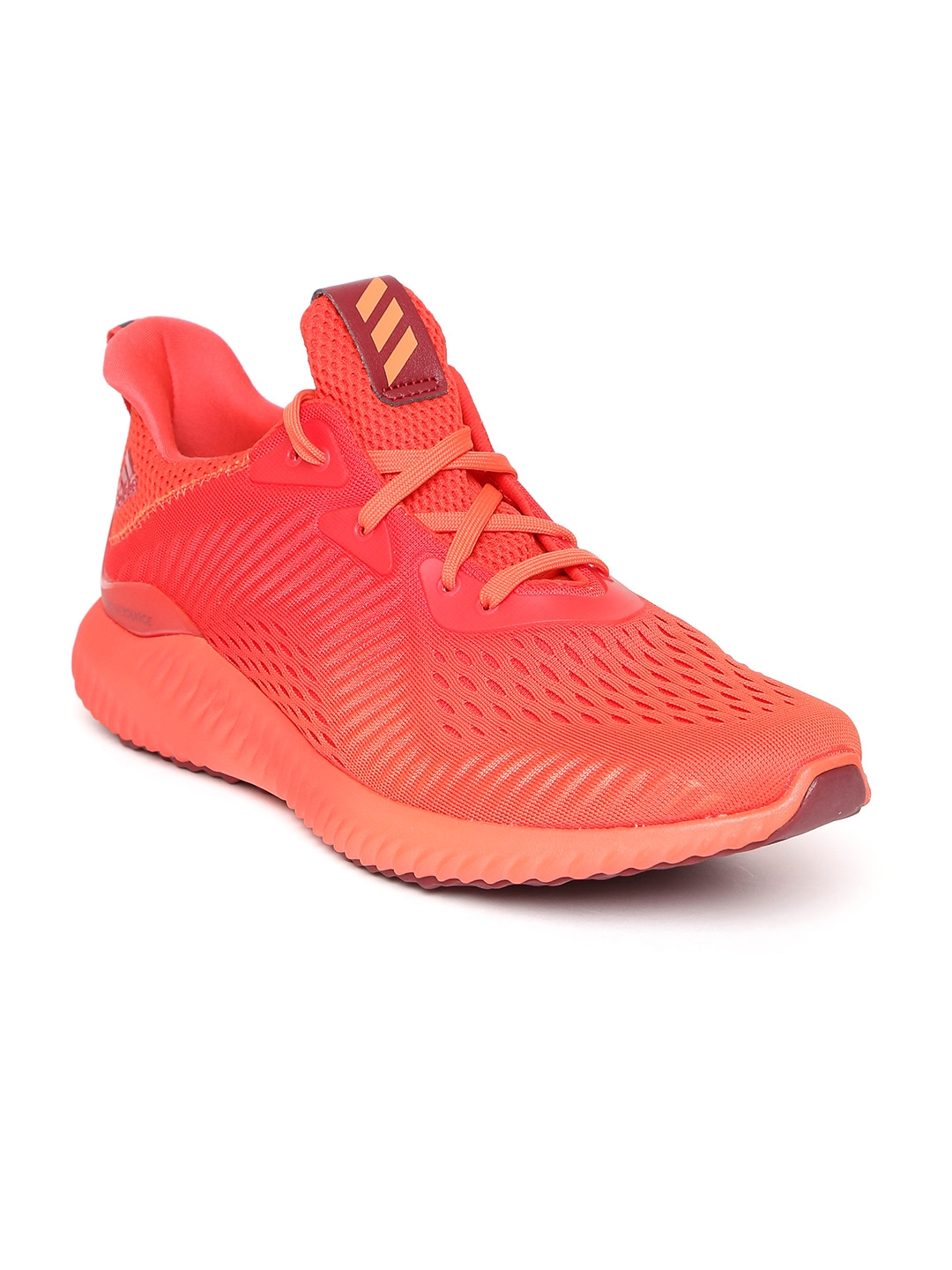 b6ae333c9 Buy ADIDAS Men Coral Red AlphaBOUNCE Engineered Mesh Running Shoes ...