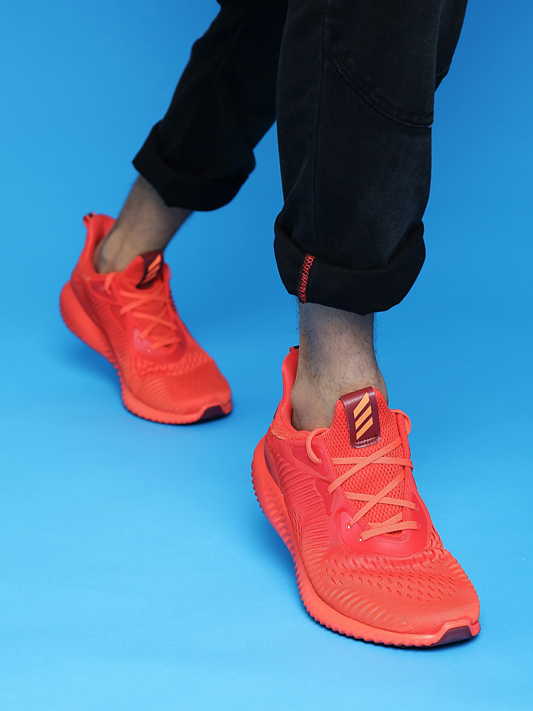 d25bb415d Buy ADIDAS Men Coral Red AlphaBOUNCE Engineered Mesh Running Shoes ...