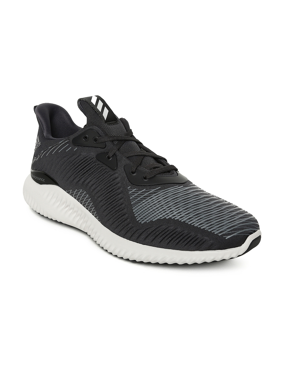 8bae29bd4 Buy ADIDAS Men Black ALPHABOUNCE Haptic Print Running Shoes - Sports ...