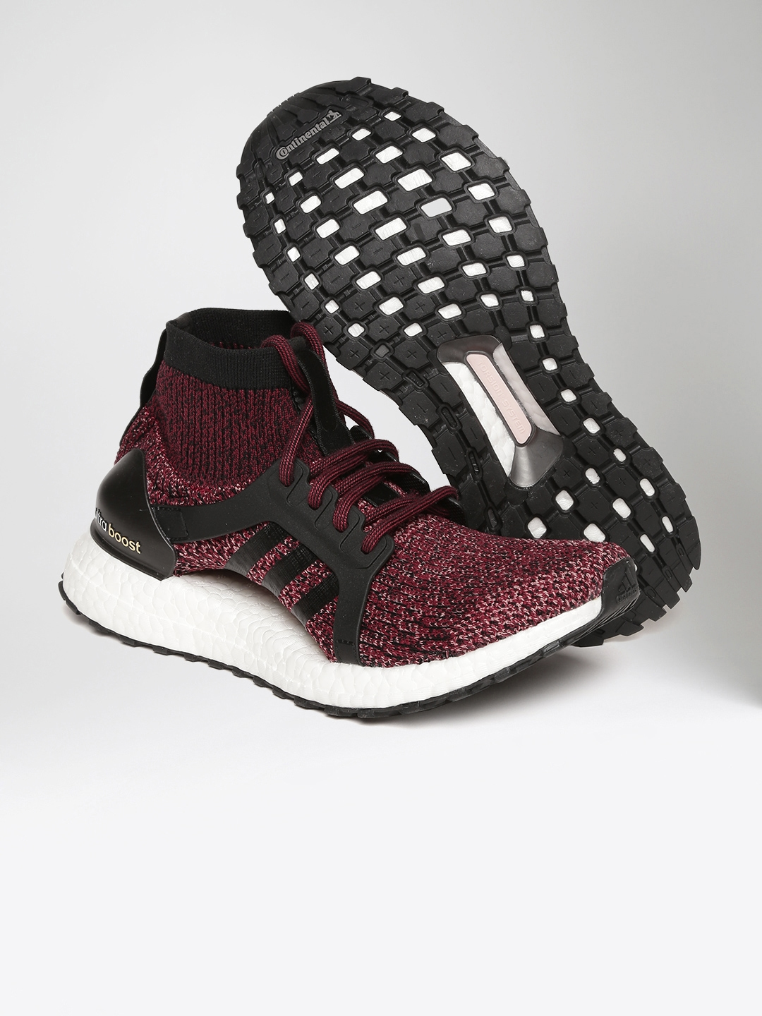 436361bdb3a39 ADIDAS Women Burgundy   Black Ultraboost X All Terrain Patterned Running  Shoes