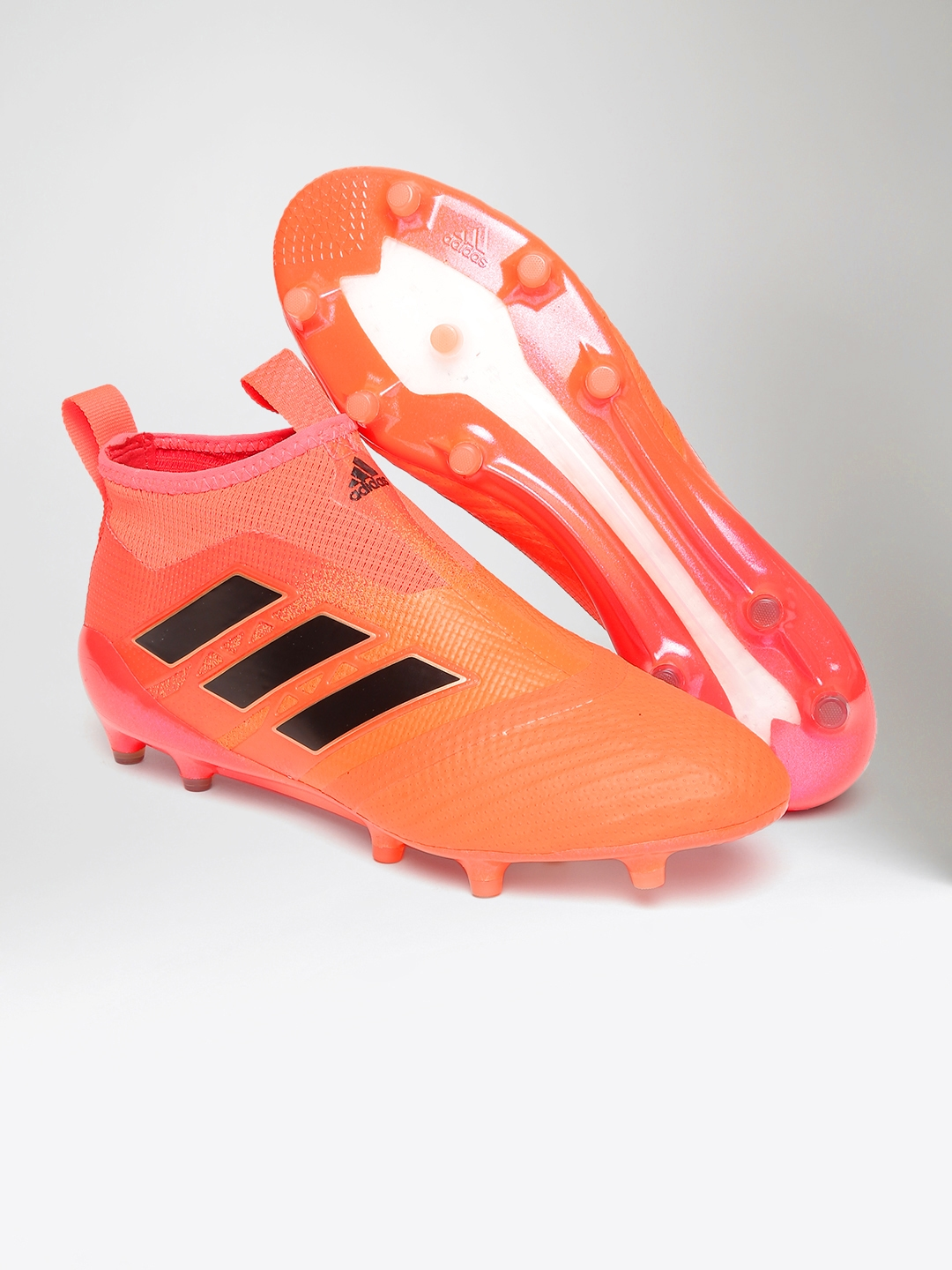 Buy ADIDAS Men Orange ACE 17+ PURECONTROL Mid Top Football Shoes ... 5844f08fda