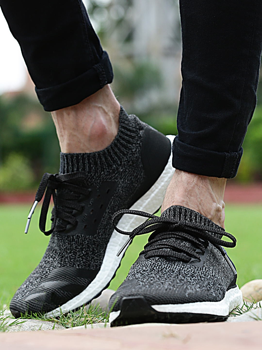 fda4cd40898b5 Buy ADIDAS Men Charcoal Grey Ultraboost Uncaged Running Shoes ...