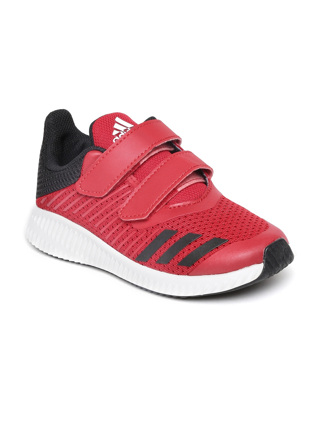 buy online 1449c b5e5b ADIDAS Kids Red Fortarun Cushioned Footbed Knit Running Shoes