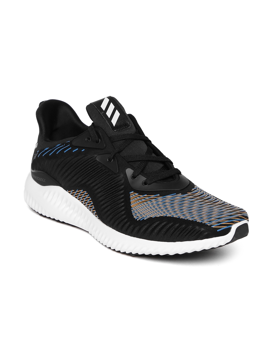 new arrival e9f27 f07f4 ADIDAS Men Black Alphabounce HPC Printed Running Shoes