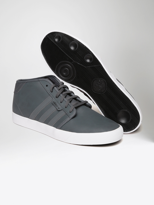 2228fda8814 Buy ADIDAS Originals Men Grey Seeley Leather Skateboarding Shoes ...