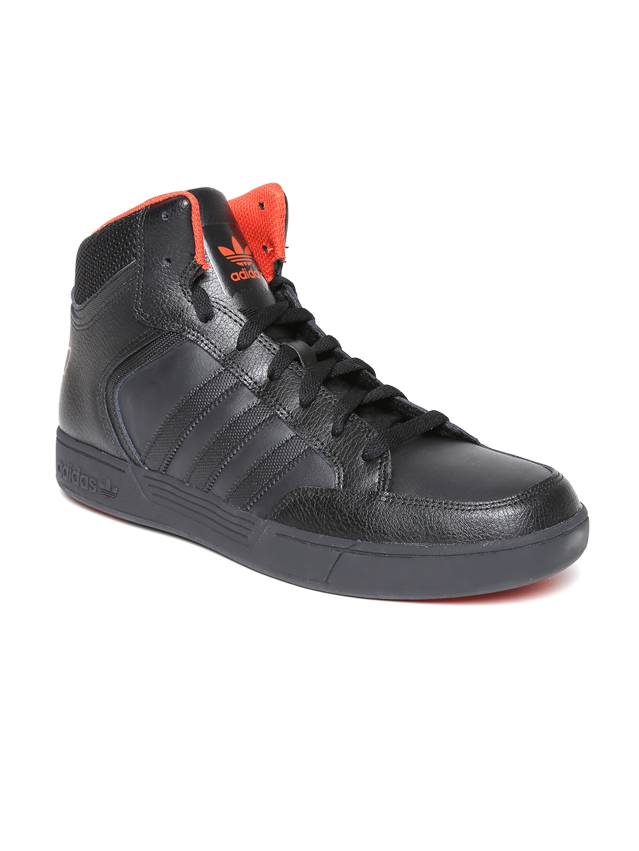 ADIDAS ORIGINALS VARIAL Mid Junior Lace Up Black Leather
