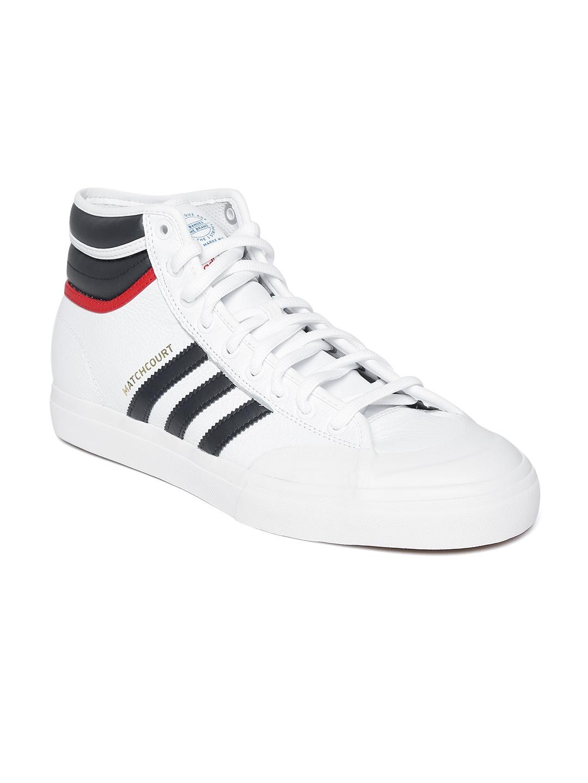04158bd89d7d07 Buy ADIDAS Originals Men White Matchcourt High RX2 Skateboarding ...