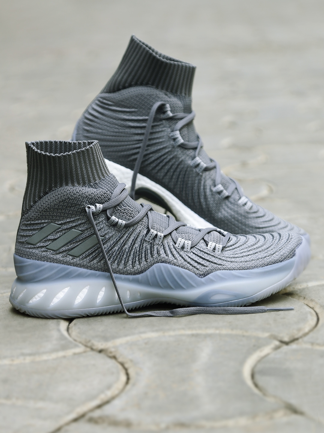 sports shoes 5a385 e1446 ADIDAS Men Grey CRAZY EXPLOSIVE 2017 PrimeKnit Basketball Shoes