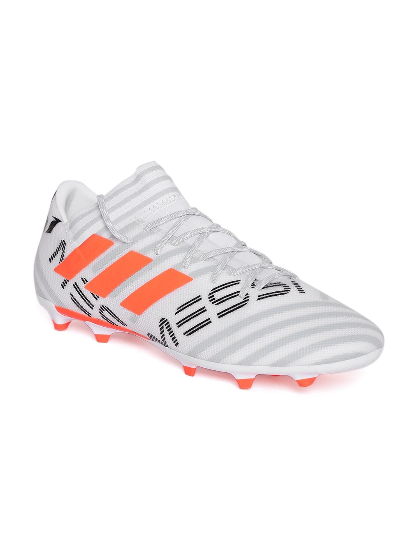 ebca8ccc991 Adidas Men Off-White   Grey Nemeziz Messi 17.3 FG Printed Football Shoes