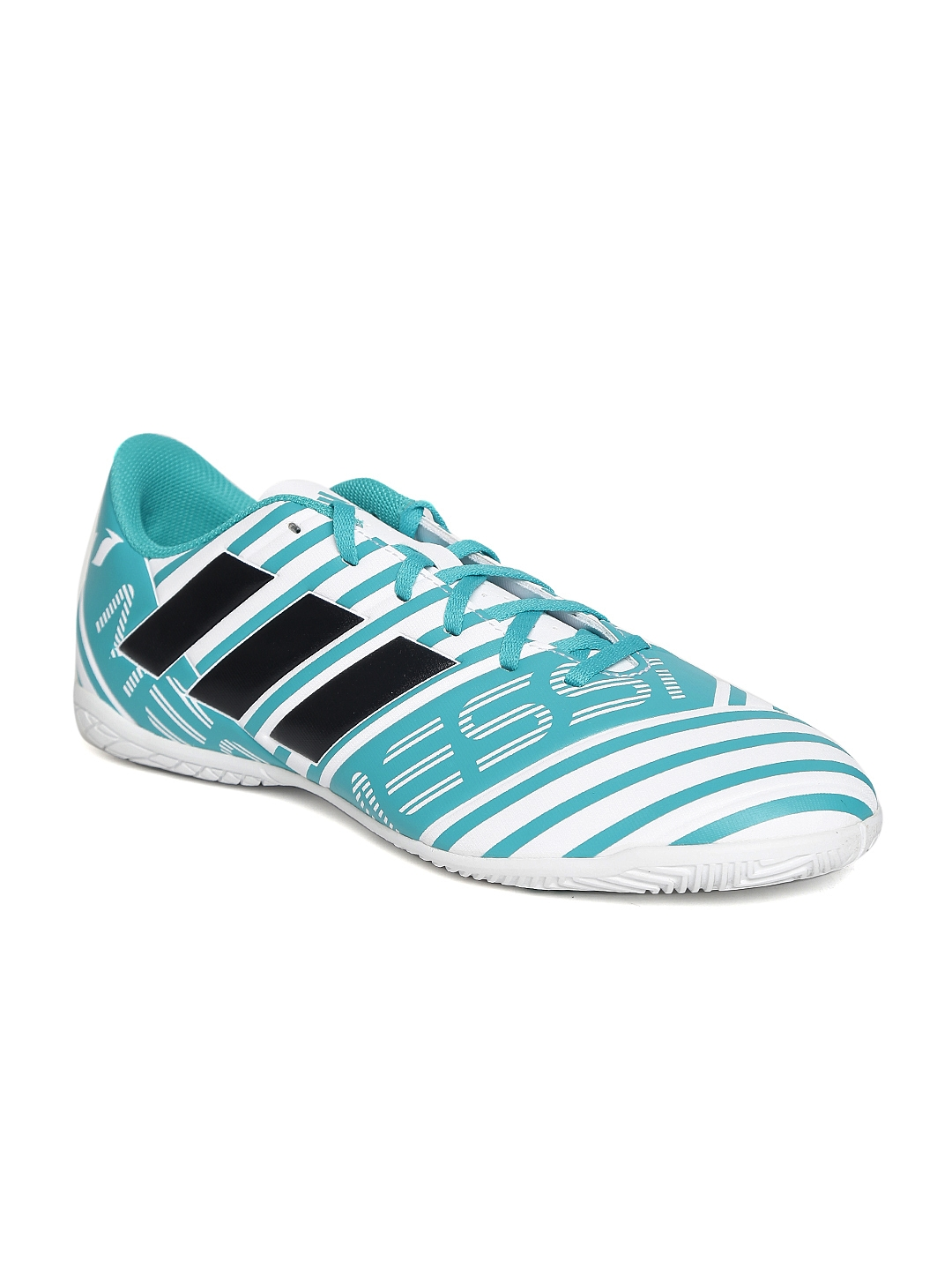 2398c9449d2d Buy ADIDAS Men White   Teal Blue NEMEZIZ MESSI 17.4 IN Football Shoes - Sports  Shoes for Men 1989736